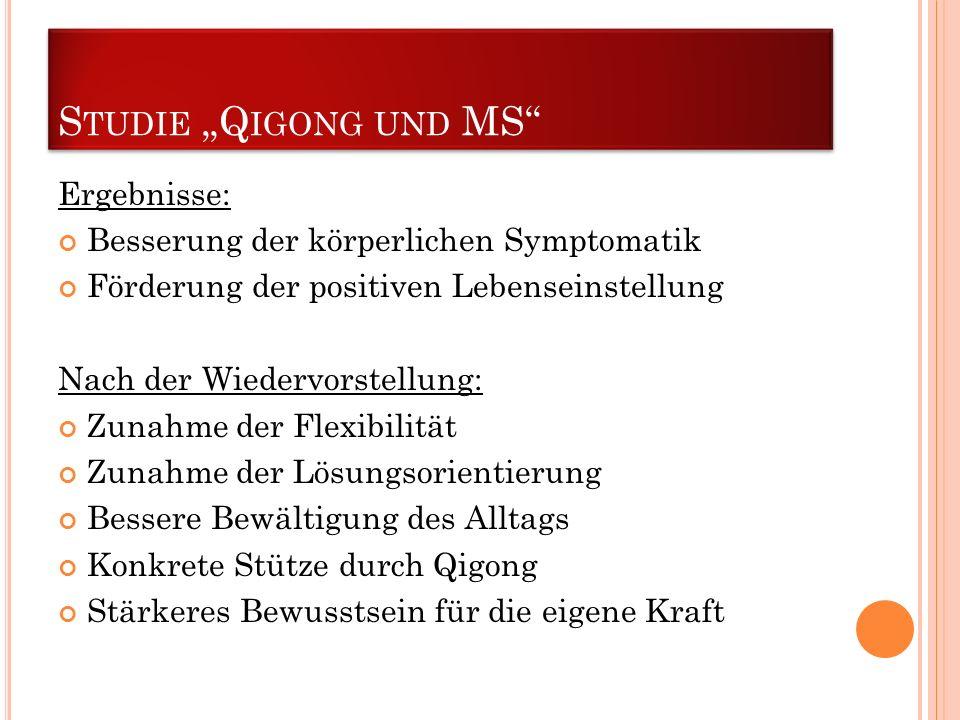 """Studie """"Qigong und MS Ergebnisse:"""