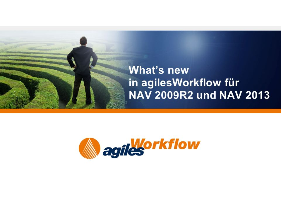 What's new in agilesWorkflow für NAV 2009R2 und NAV 2013