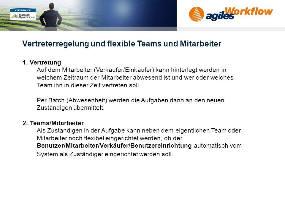 Vertreterregelung und flexible Teams und Mitarbeiter
