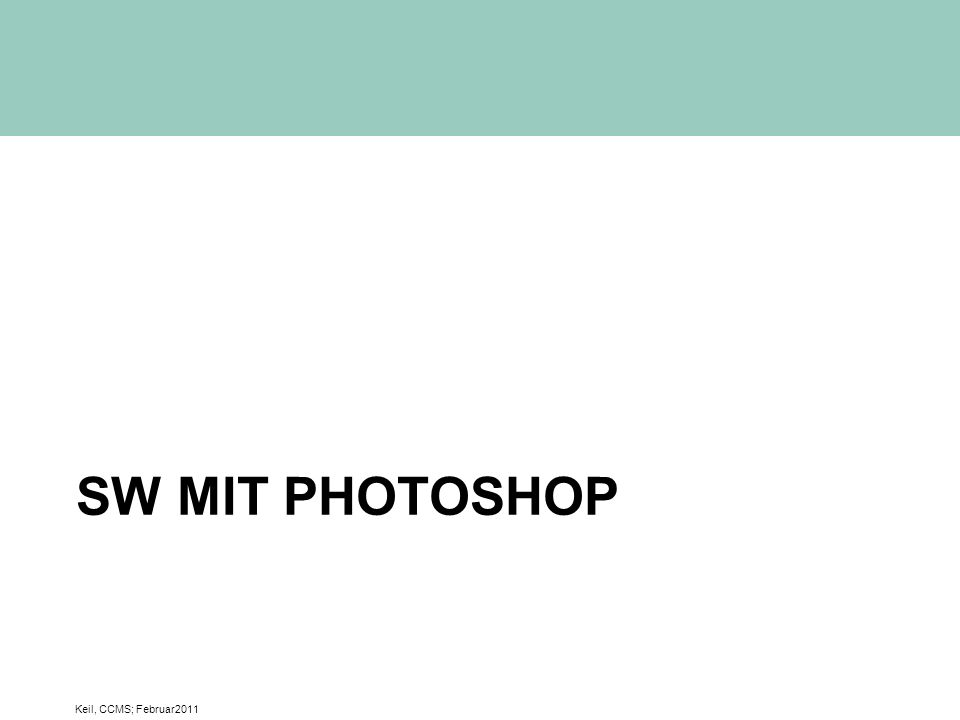 SW mit Photoshop Keil, CCMS; Februar2011