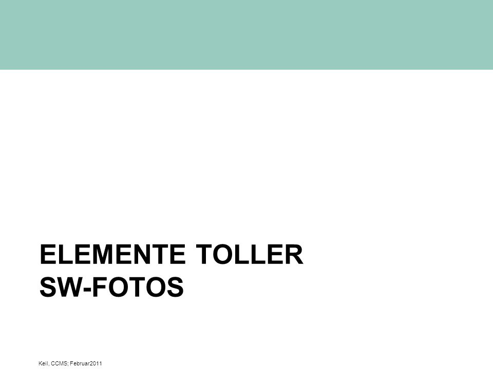 Elemente toller SW-Fotos