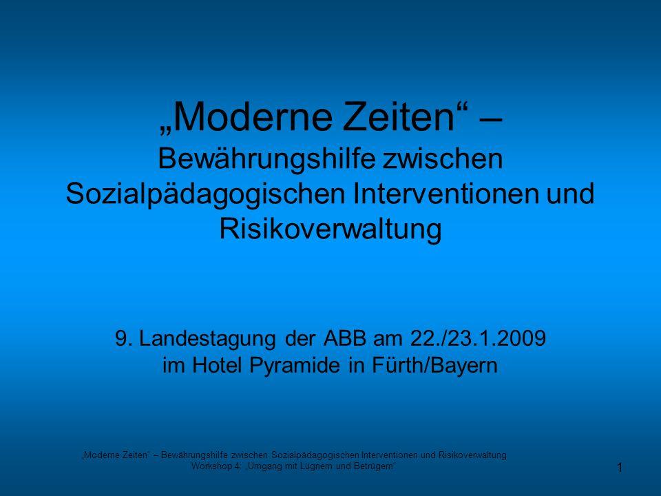 """Workshop 4: """"Umgang mit Lügnern und Betrügern"""