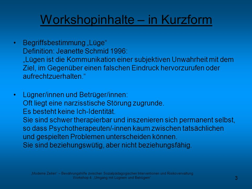 Workshopinhalte – in Kurzform