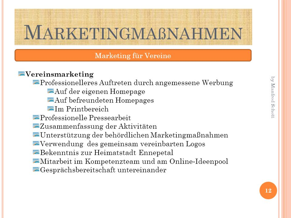 Marketingmaßnahmen Marketing für Vereine Vereinsmarketing