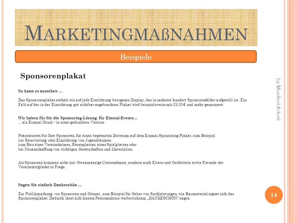 Marketingmaßnahmen Beispiele Sponsorenplakat