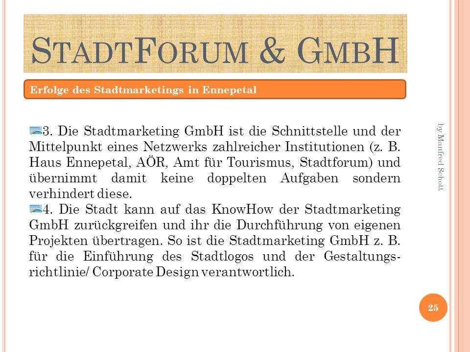 StadtForum & GmbH Erfolge des Stadtmarketings in Ennepetal.