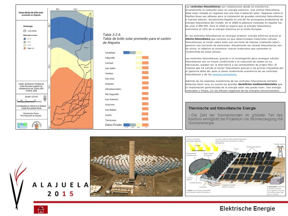 Elektrische Energie Thermische und fotovoltaische Energie