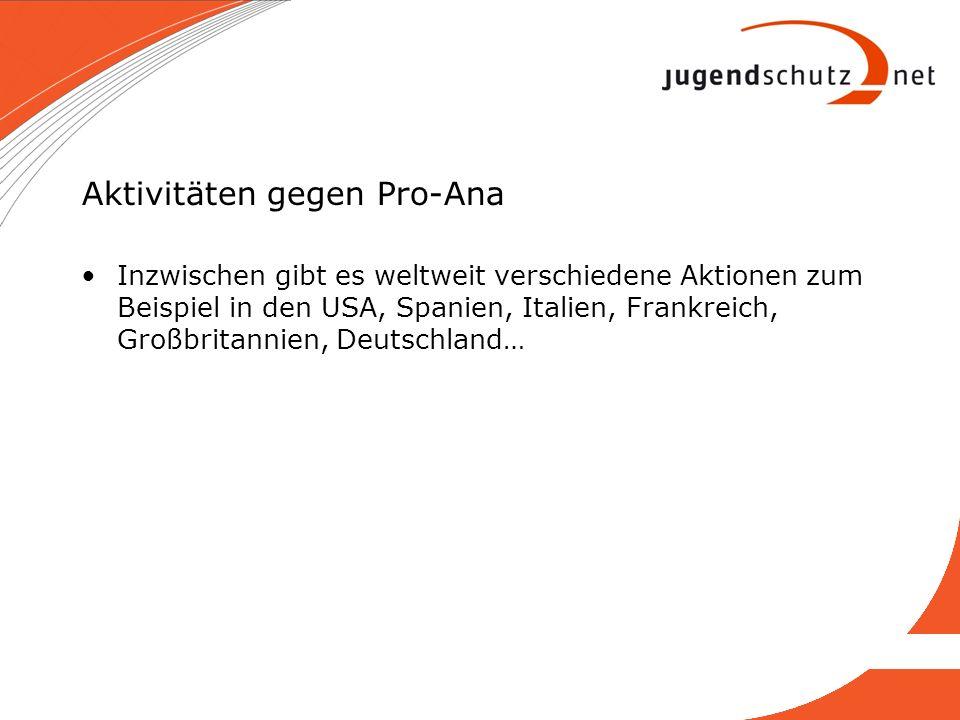 Aktivitäten gegen Pro-Ana