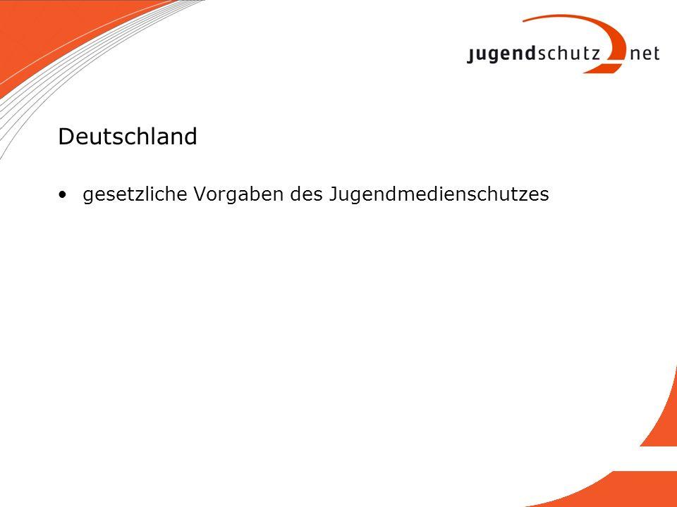 Deutschland gesetzliche Vorgaben des Jugendmedienschutzes