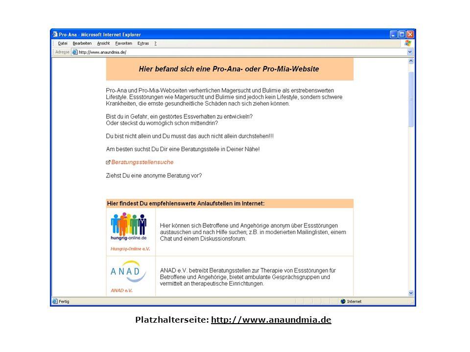 Platzhalterseite: http://www.anaundmia.de