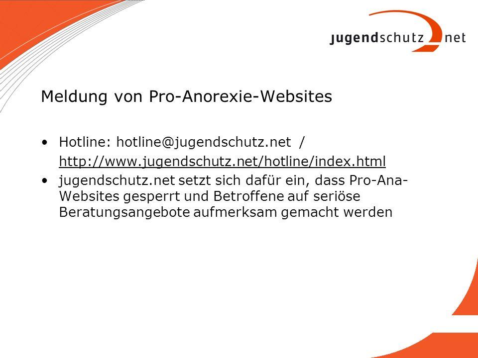 Meldung von Pro-Anorexie-Websites