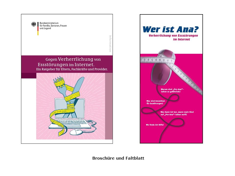 Broschüre und Faltblatt