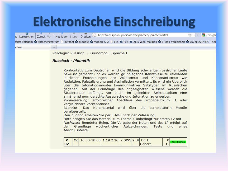 Elektronische Einschreibung