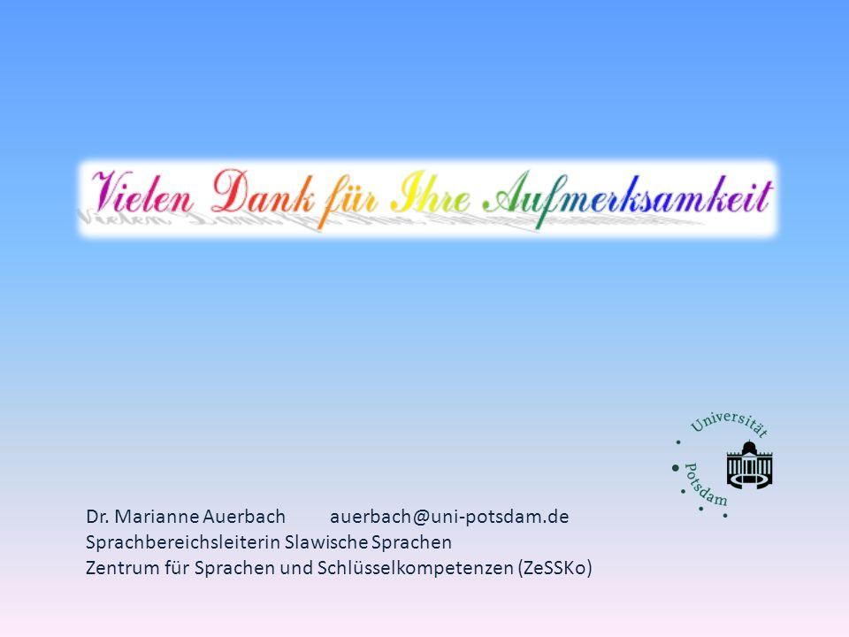 Dr. Marianne Auerbach auerbach@uni-potsdam.de