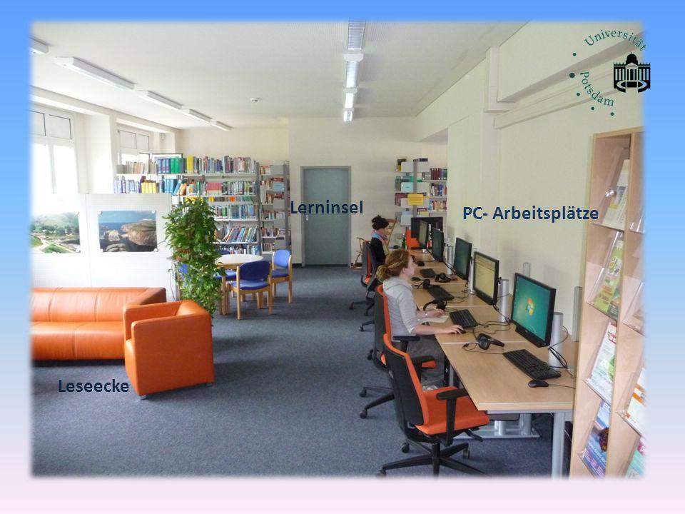 Lerninsel PC- Arbeitsplätze Leseecke