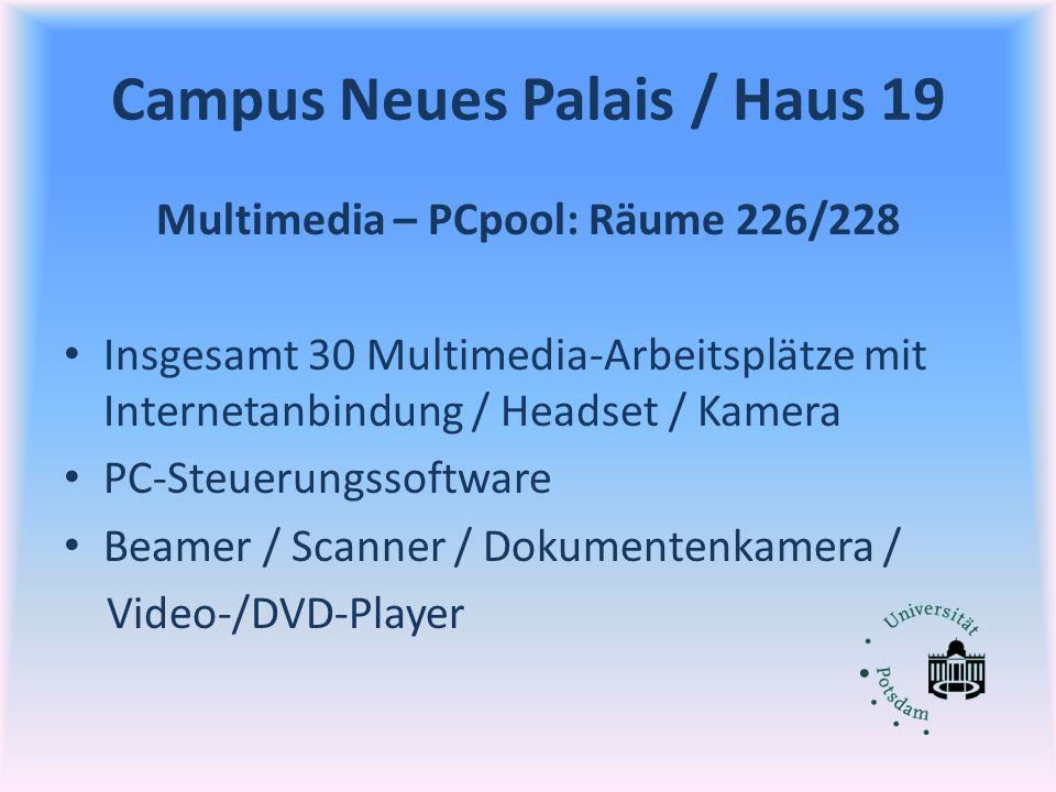 Campus Neues Palais / Haus 19