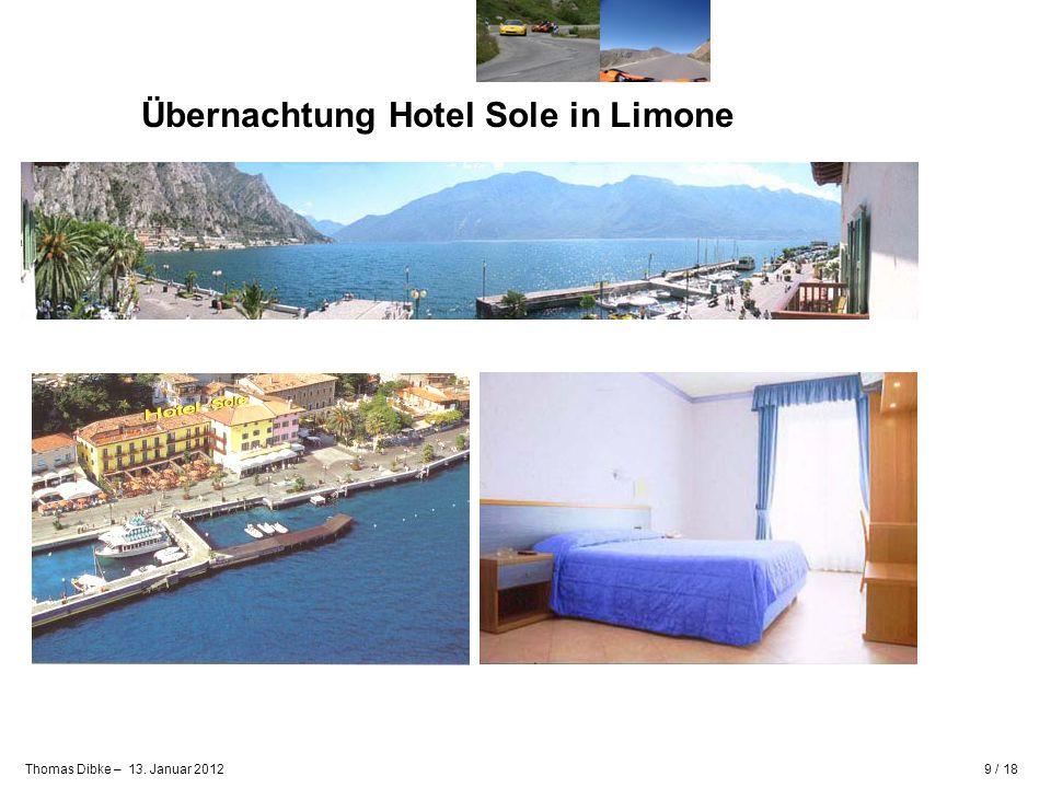 Übernachtung Hotel Sole in Limone