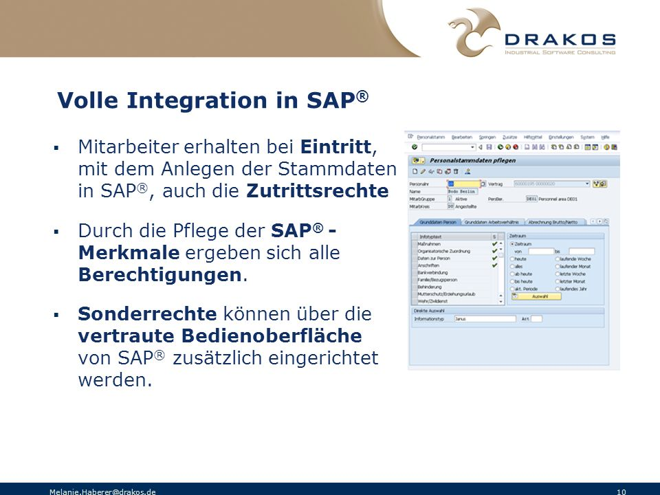 Volle Integration in SAP®