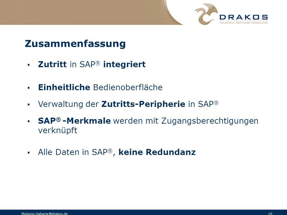 Zusammenfassung Zutritt in SAP® integriert