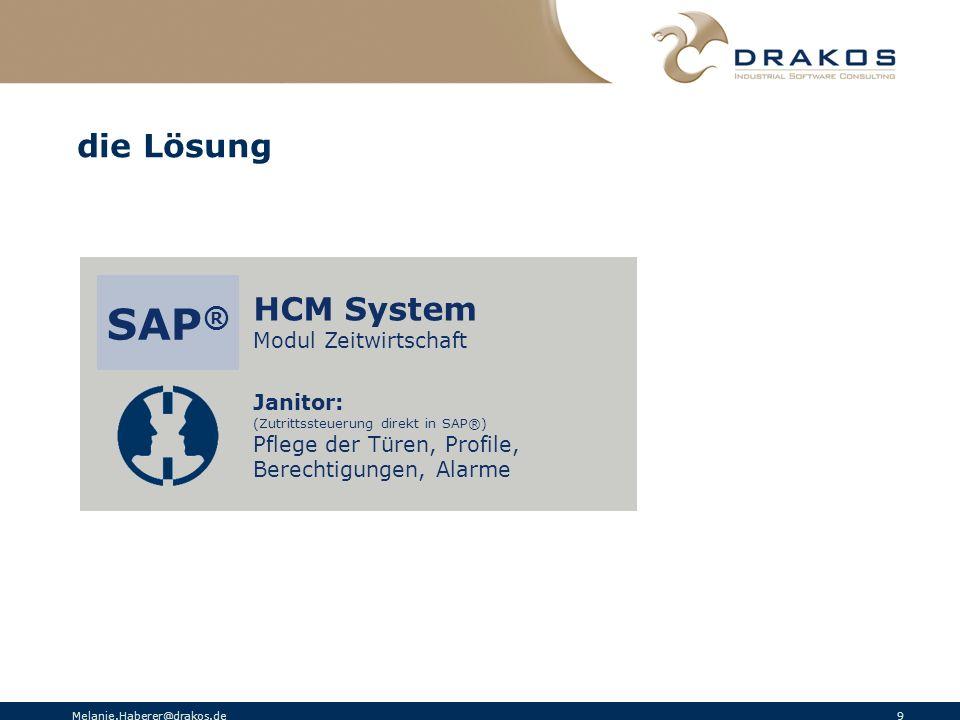 SAP® die Lösung HCM System Modul Zeitwirtschaft Janitor: