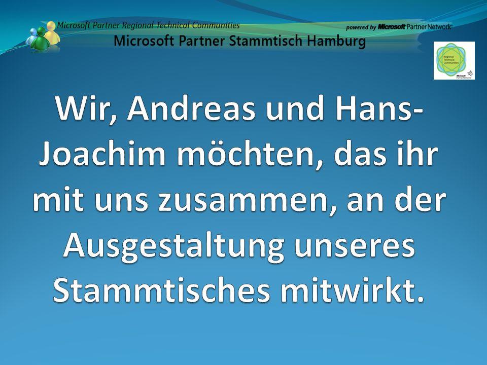 Wir, Andreas und Hans-Joachim möchten, das ihr mit uns zusammen, an der Ausgestaltung unseres Stammtisches mitwirkt.