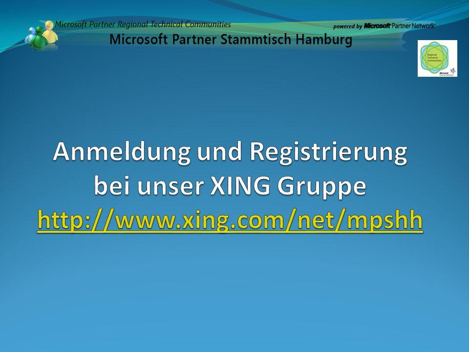 Anmeldung und Registrierung bei unser XING Gruppe http://www. xing