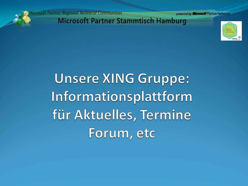 Unsere XING Gruppe: Informationsplattform für Aktuelles, Termine Forum, etc