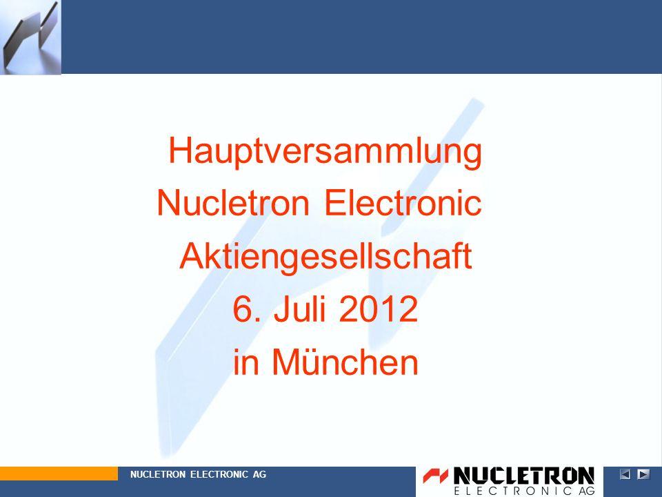 Hauptversammlung Nucletron Electronic Aktiengesellschaft 6