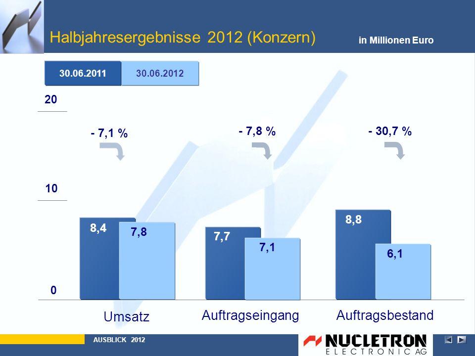 Halbjahresergebnisse 2012 (Konzern)