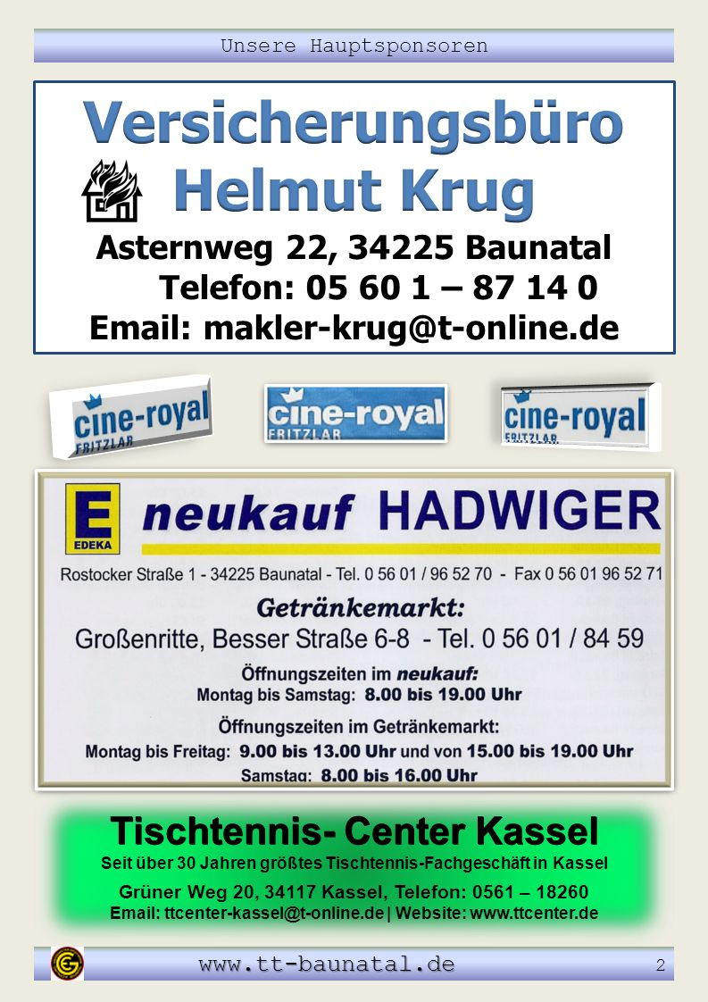 Versicherungsbüro Helmut Krug Email: makler-krug@t-online.de