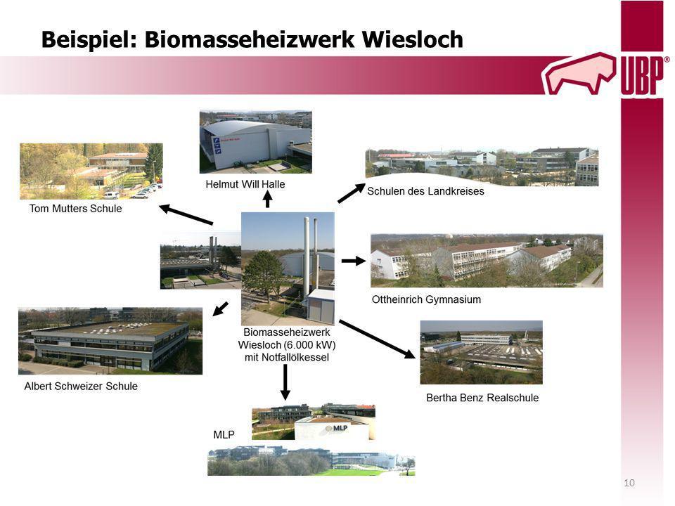 Beispiel: Biomasseheizwerk Wiesloch