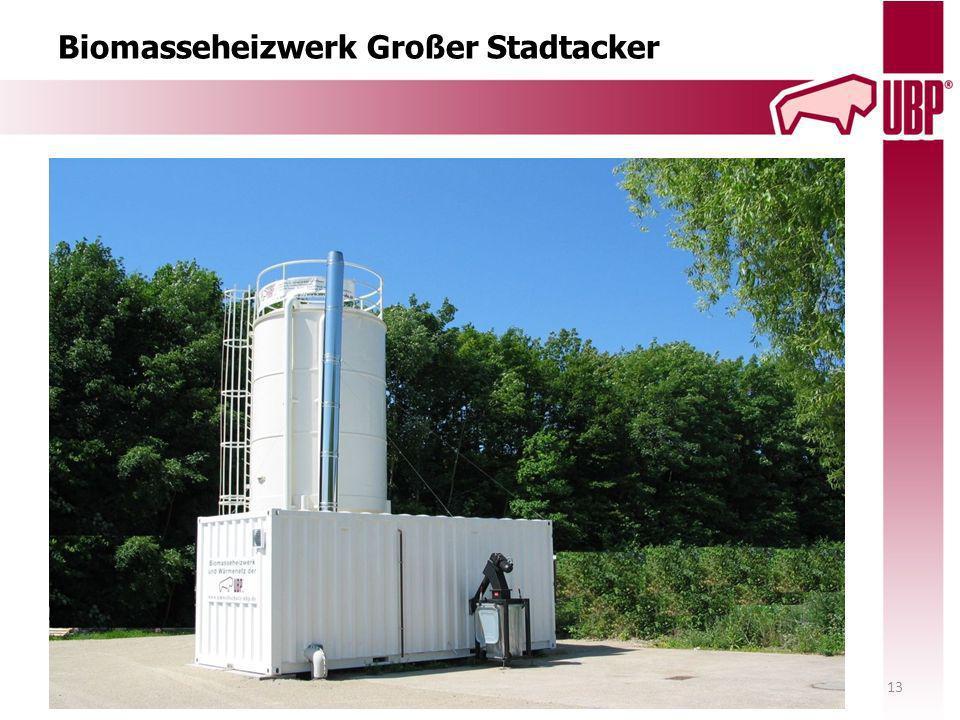 Biomasseheizwerk Großer Stadtacker