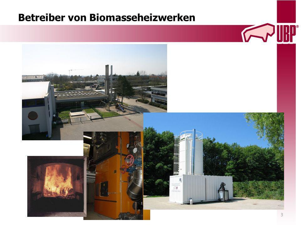 Betreiber von Biomasseheizwerken