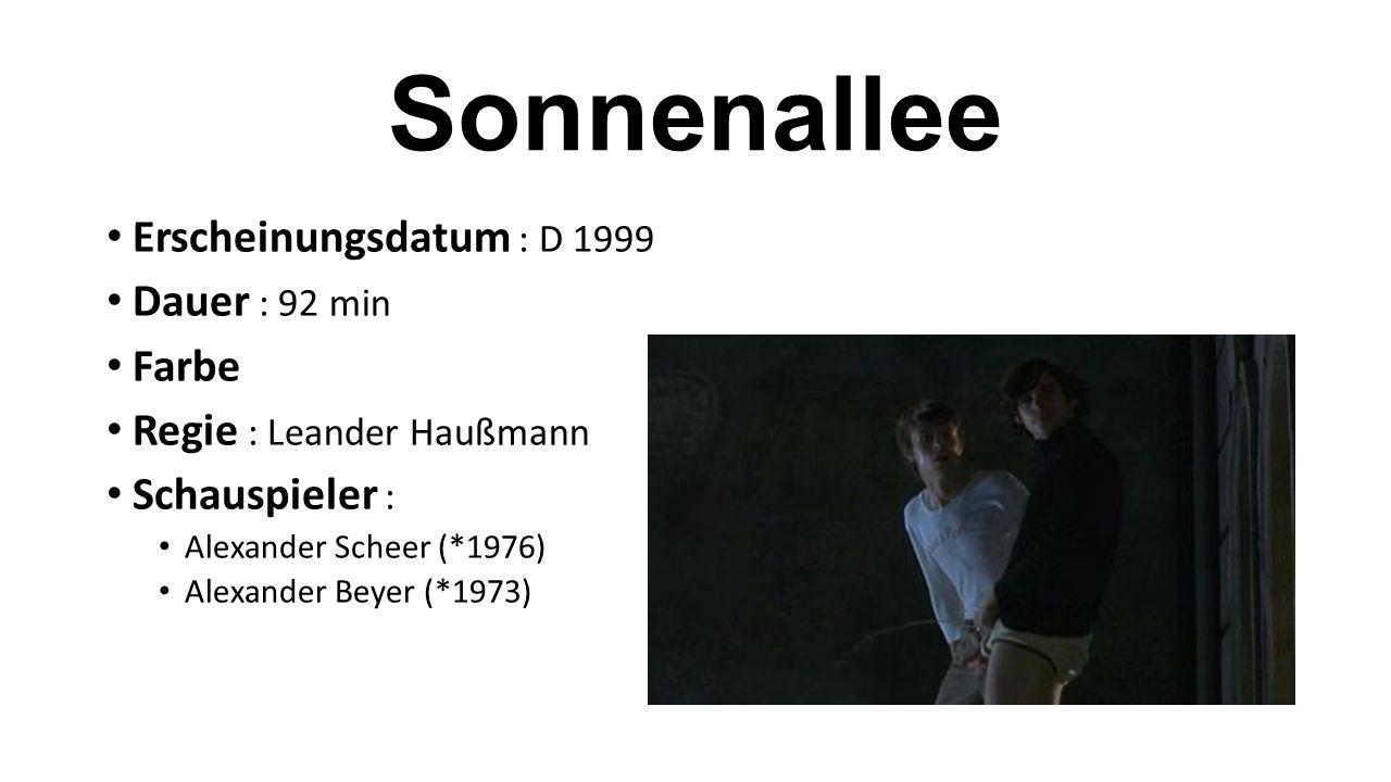Sonnenallee Erscheinungsdatum : D 1999 Dauer : 92 min Farbe