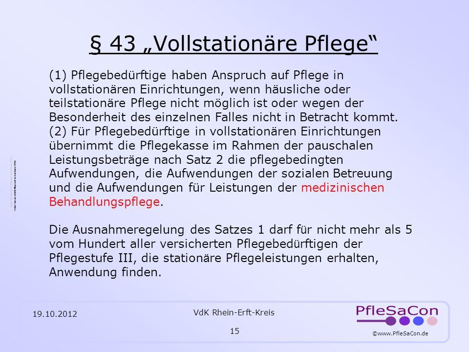 "§ 43 ""Vollstationäre Pflege"