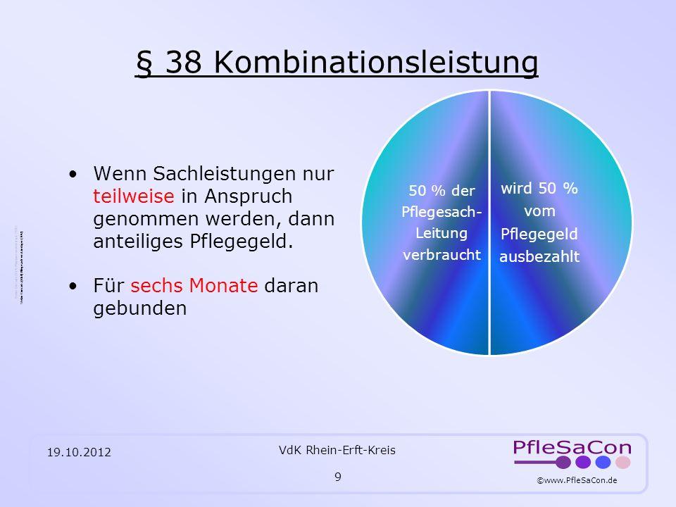 § 38 Kombinationsleistung