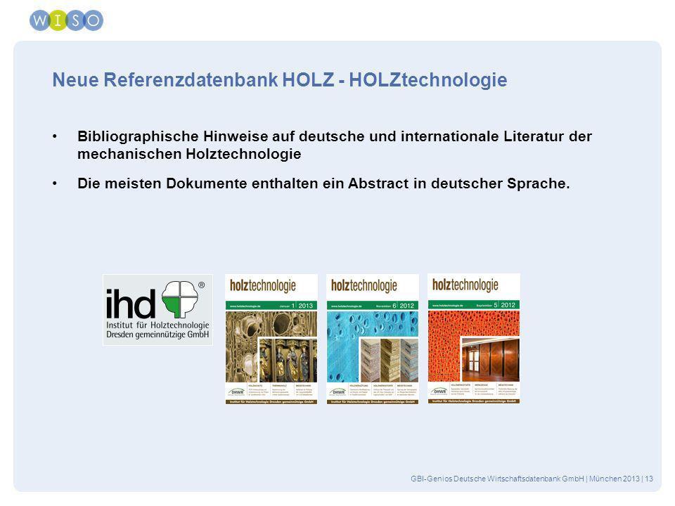Neue Referenzdatenbank HOLZ - HOLZtechnologie
