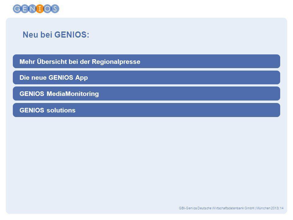 Neu bei GENIOS: Mehr Übersicht bei der Regionalpresse