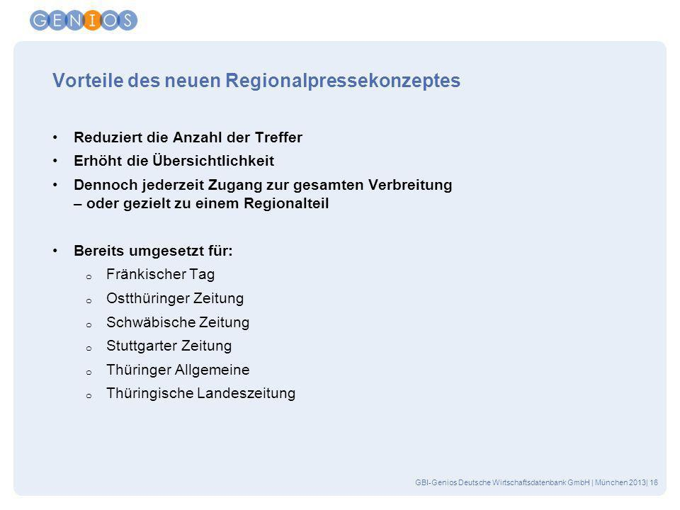 Vorteile des neuen Regionalpressekonzeptes