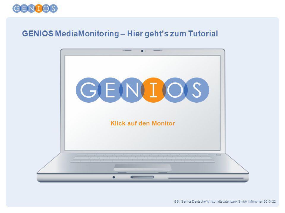 GENIOS MediaMonitoring – Hier geht's zum Tutorial