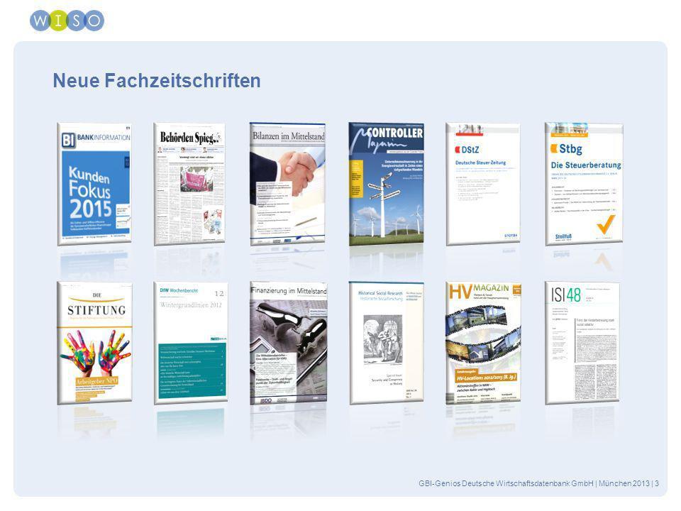 Neue Fachzeitschriften