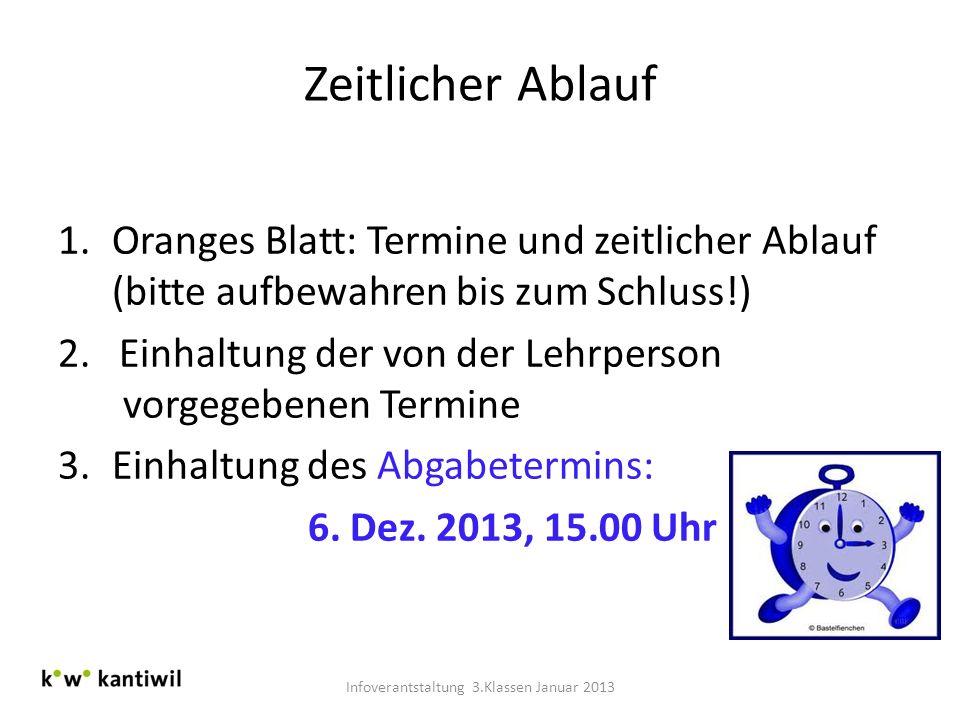 Infoverantstaltung 3.Klassen Januar 2013
