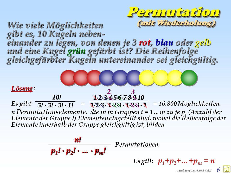 Permutation (mit Wiederholung)