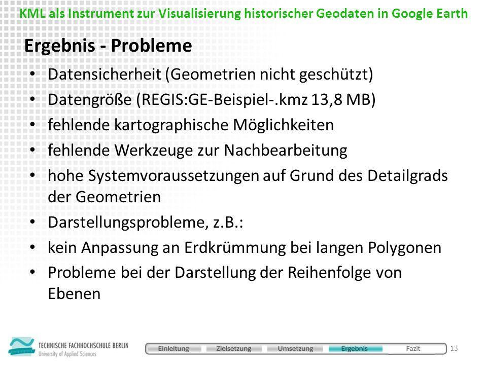Ergebnis - Probleme Datensicherheit (Geometrien nicht geschützt)