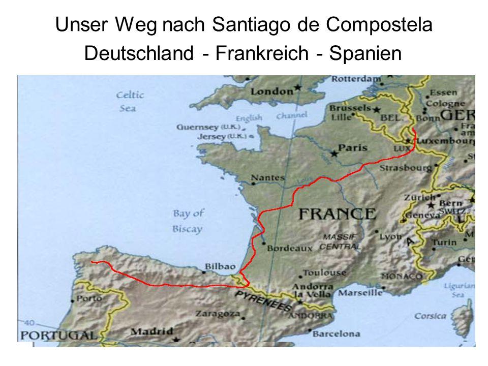 Unser Weg nach Santiago de Compostela