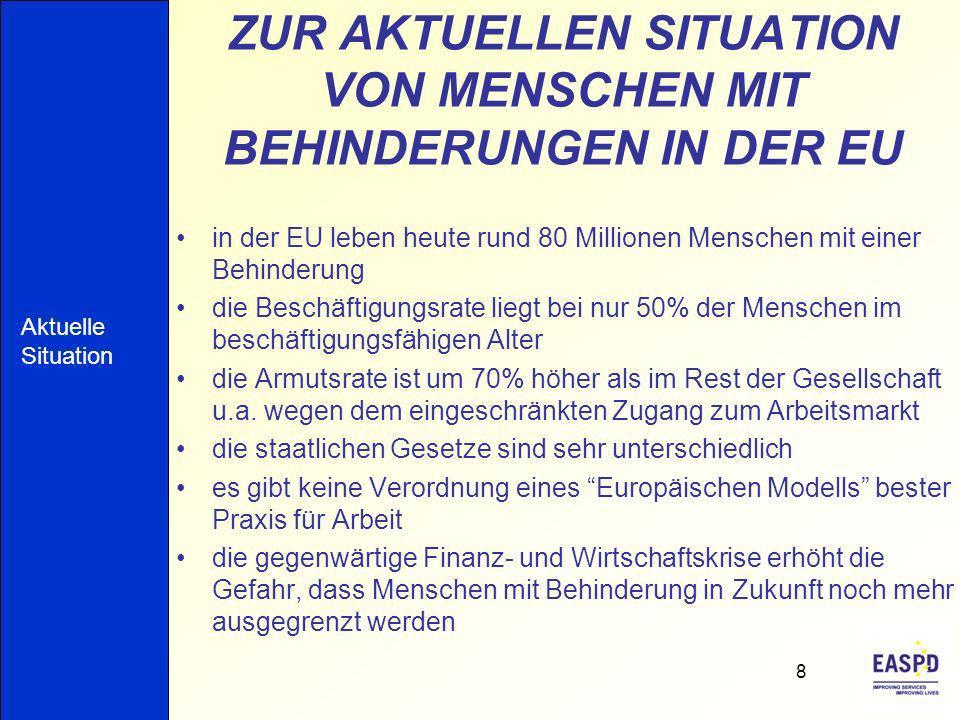 ZUR AKTUELLEN SITUATION VON MENSCHEN MIT BEHINDERUNGEN IN DER EU