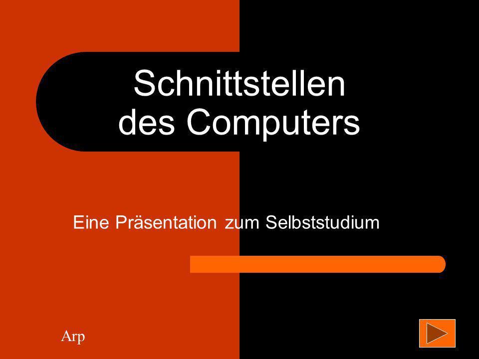 Schnittstellen des Computers