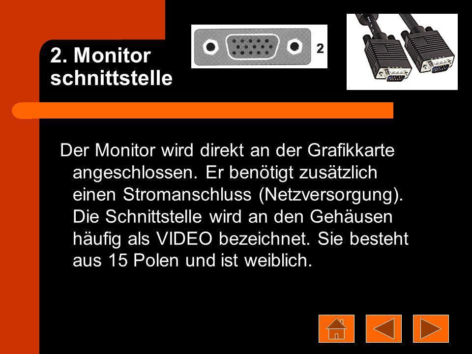 2. Monitor schnittstelle