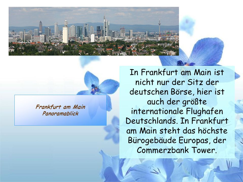 Frankfurt am Main Panoramablick