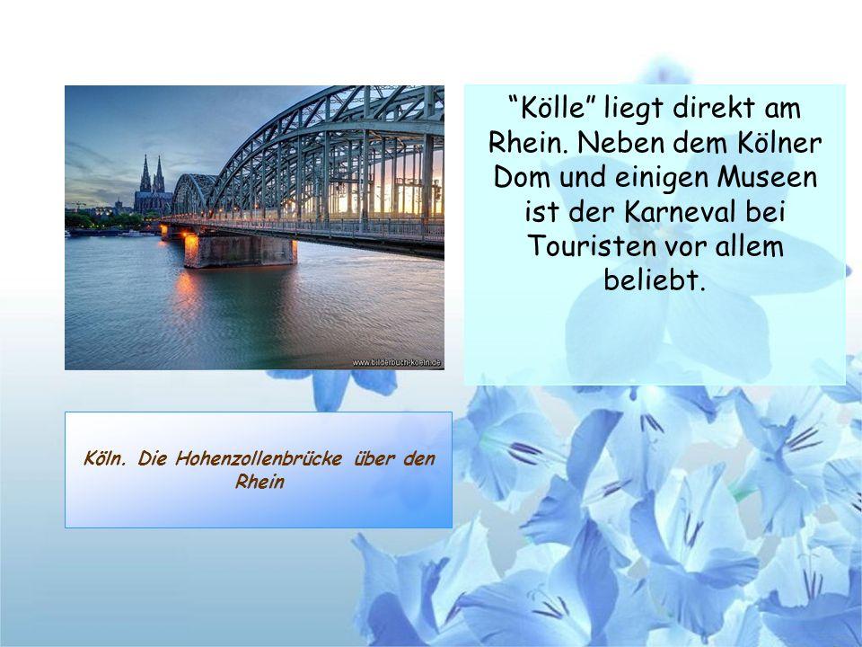Köln. Die Hohenzollenbrücke über den Rhein